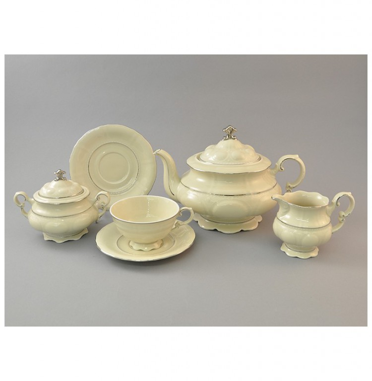 Чайный сервиз на 6 персон 15 предметов 200 мл